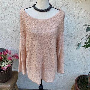 ✨💕 Lane Bryant Pink Sequin Sweater ✨💕